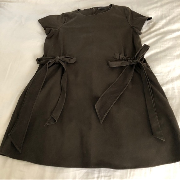 Zara Dresses & Skirts - Zara dark olive green short dress